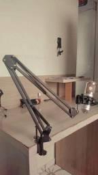 Conjunto de Mic condensador BM 800 + braço articulado