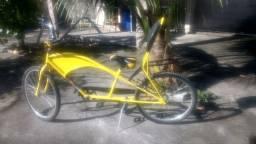 Bicicleta americana alongada com 72 cm do quadro ao guidão