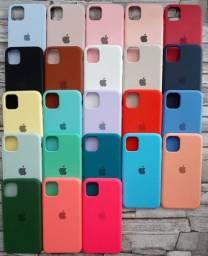 Case anti impacto aveludada Apple iphone 11