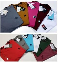 Sacoleiras - 100 Camisetas DeLuxo Malha Premium Fio 30.1 Marcas Famosas - Frete Grátis