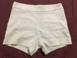 Short tecido branco