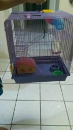 Gaiola Hamster Labirinto 3 andares super luxo roxa