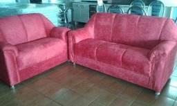 Conjunto de sofá 2 e 3 lugares na promoção