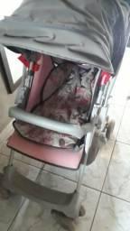 Desapego carrinho bem conservado Galzerano e bebê conforto usado mas conservado
