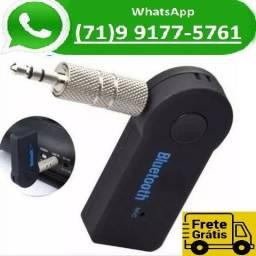 Receptor Automotivo Áudio Bluetooth Adaptador P2 Musica Som (NOVO)