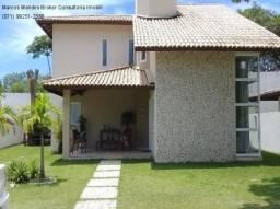 BURAQUINHO - Casa com 4 suítes em condomínio dentro do Foz do Joanes com segurança e porta