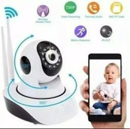 Baba Eletrônica Camera Sem Fio Visao Noturna Sensor de Movimwnto Bebe Criança Idoso