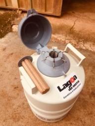 Botijão de nitrogênio líquido