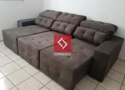 Sofá retrátil reclinável SAFIRA A pronta entrega