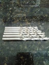 6 Brocas Irwin Aço Rapido Hss (5,5mm ao 8,0mm) Impecáveis