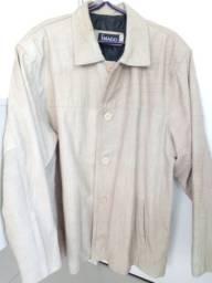 Casaco de couro - masculino, estilo blazer