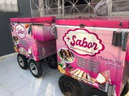 Vendo carrinho para (Açai,salada de fruta,geladinhos gourmet,água entre outras coisas)
