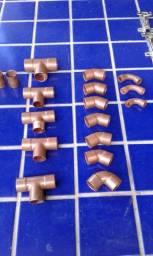 Água quente / Gás: cotovelos, luvas e outras conexões de cobre - Novas