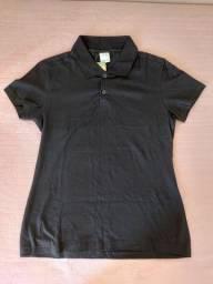 Camisa polo cor preta da Malwee de tamanho P nunca usada