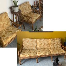 Sofá e Poltronas de Bambu