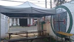 Vendo tenda sanfonada em aço