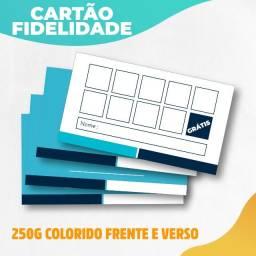 Cartão Fidelidade 1000 Colorido Frente E Verso Personalizado