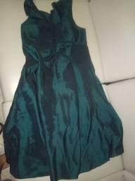 Vestido curto azul- vender rápido