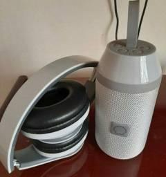 Caixinha de som e Fone de ouvido bluetooth