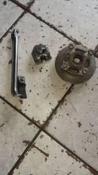 Flange, cuba do carburador e descanso lateral td cromado