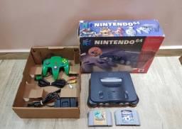 Nintendo 64 Completo Na Caixa Com 1 Controle 2 Cartuchos
