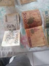 Notas dê dinheiro antigos