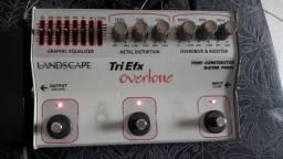 Pedal Tri efx, Overtone + fonte estabilizada para 4 pedais