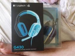 Headset e mouse gamer da Logitech (Leia a descrição)