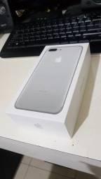 Iphone 7 plus 128Gb Prata, Original Lacrado/ Bateria 100%(BRINDE película de vidro e capa)