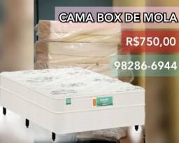 Colchão com base acoplada / cama box de casal