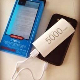 Carregador Power Bank p/ Celular, som,Tabletes, etc. Portátil 5000 mAp Excelente !!