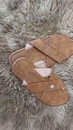 Sandálias com um acabamento impecável