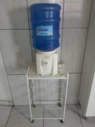 Galão de água de 20 litros + suporte c/ prateleira