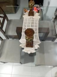 R$ 499,99 Mesa de vidro 1,10x1,10 ( quatro cadeiras).+