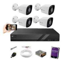 Kit Cftv Motorola 4 Câmeras Full Hd 1080p Com Hd externo