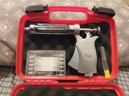 Vacinador De Gado Automático Kaber Vision + Kit 11 Agulhas