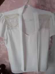 Blusa Branca - Semi Nova - Tamanho M