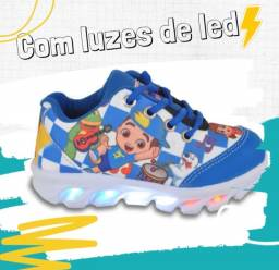 Tênis infantil Luccas Neto com luzes de led