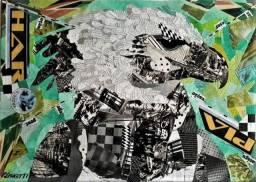 "Tela de Arte Paulo Lionetti ""Arte Colagem Surreal"""