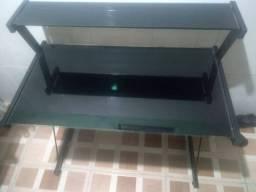Mesa para computador base vidro