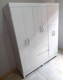 Guarda roupa branco 6 portas e 2 gavetas (entrego grátis)
