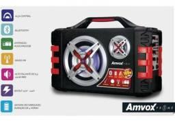Caixa Som Bluetooth Amplificada 1200W P. M.P.O 100 rms Bateria Recarregável 100wrms
