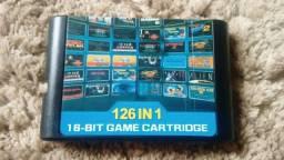 Cartucho Multijogos Mega Drive Genesis 126 Em 1 (Aceito Trocas)