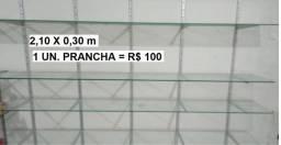 Prancha de Vidro - Valor UNITÁRIO - Caruaru - 2,10x0,30m
