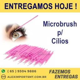 10 unid Microbrush Cotonete Alongamento Fio A Fio Cílios