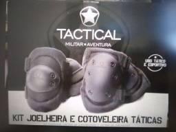 Kit tactical joelheira e cotoveleira