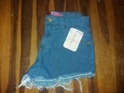 Short jeans curtinho novos