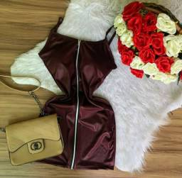 VENDO vestido de couro Fak  tamanho único