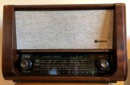 Rádio de Madeira Antigo Orbiphon, à válvula, década 50/60, Belíssimo!