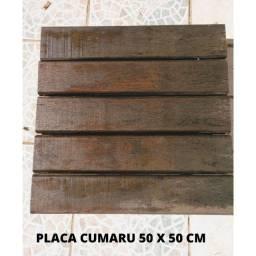 Deck Madeira Modular Cumaru 50x50 cm - 200 Unidades Ótimo Estado